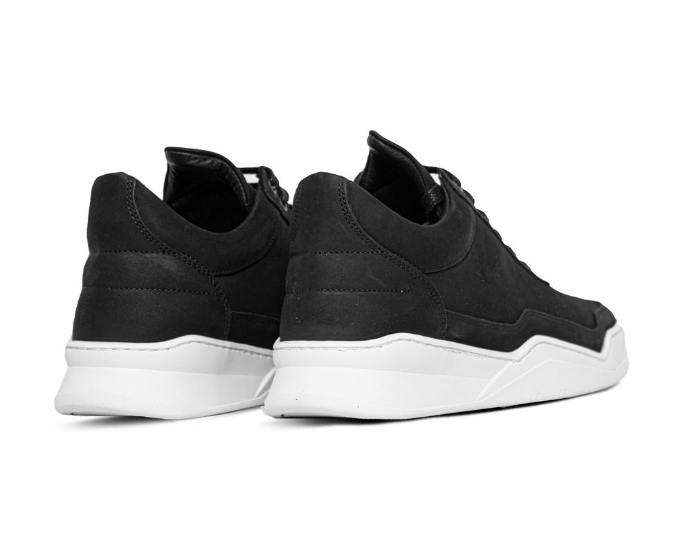 Filling Pieces Low Top Ghost Matt Nubuck Black 10121611