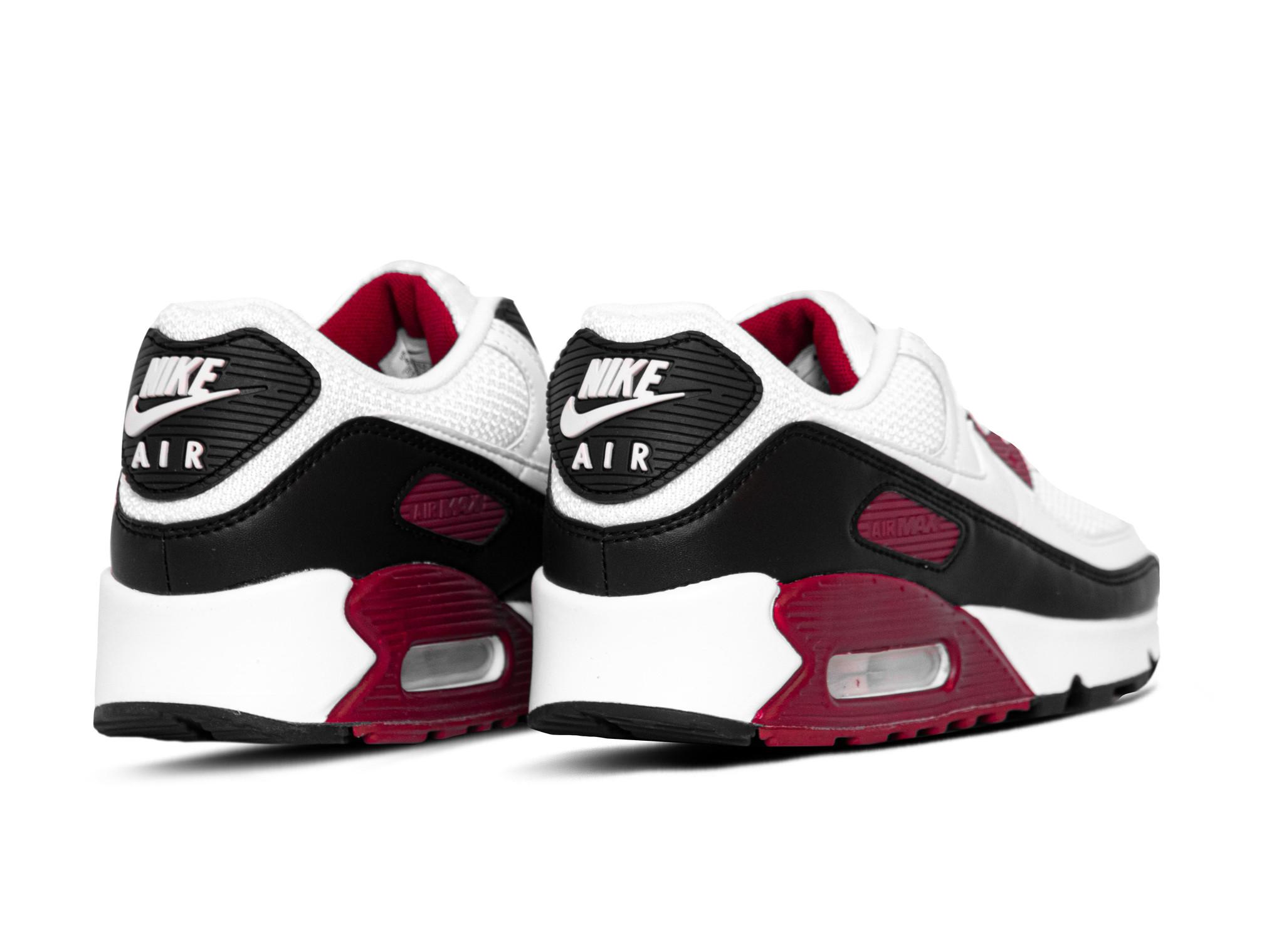 Nike Air Max 90 White New Maroon Black