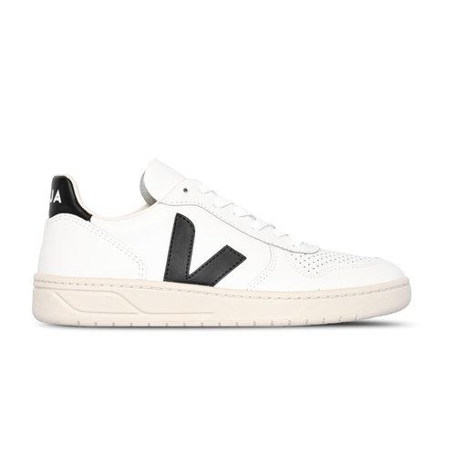 V 10 Leather Extra White Black VX020005B