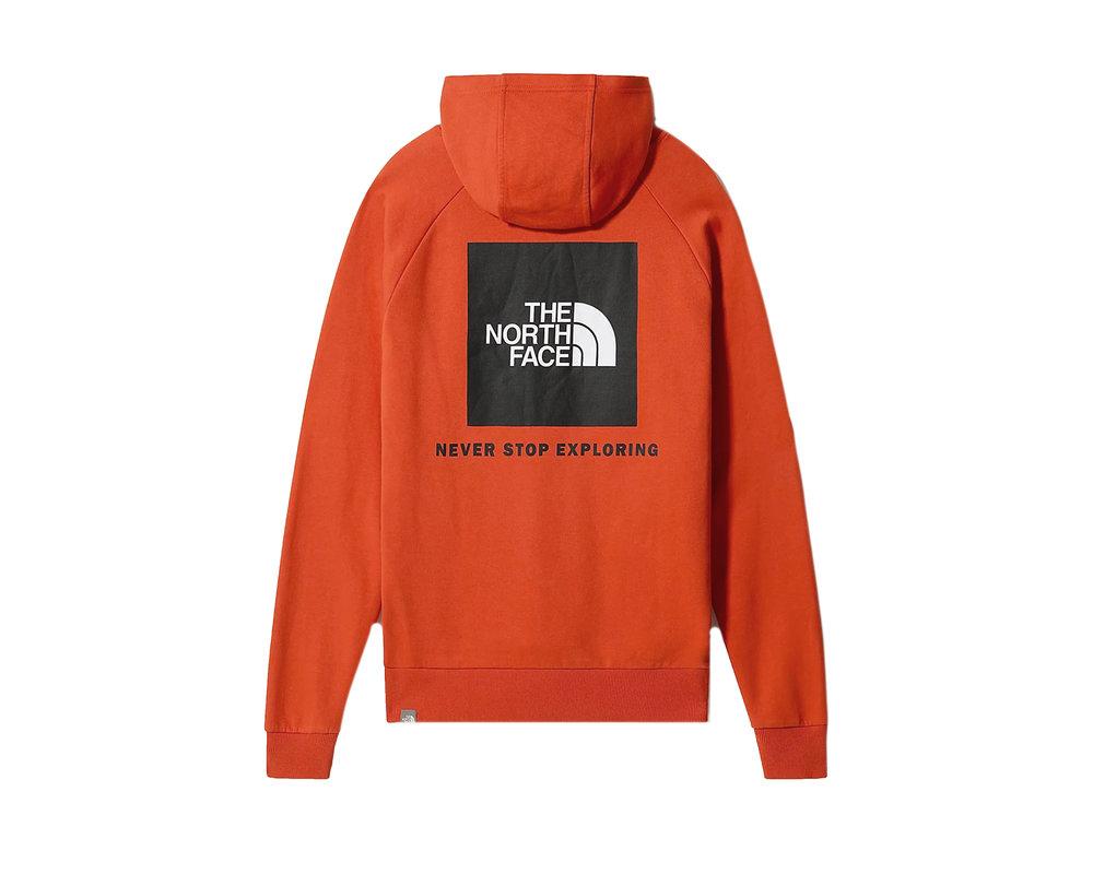 The North Face Raglan Redbox Hoodie Burnt Ochre NF0A2ZWUEMJ1