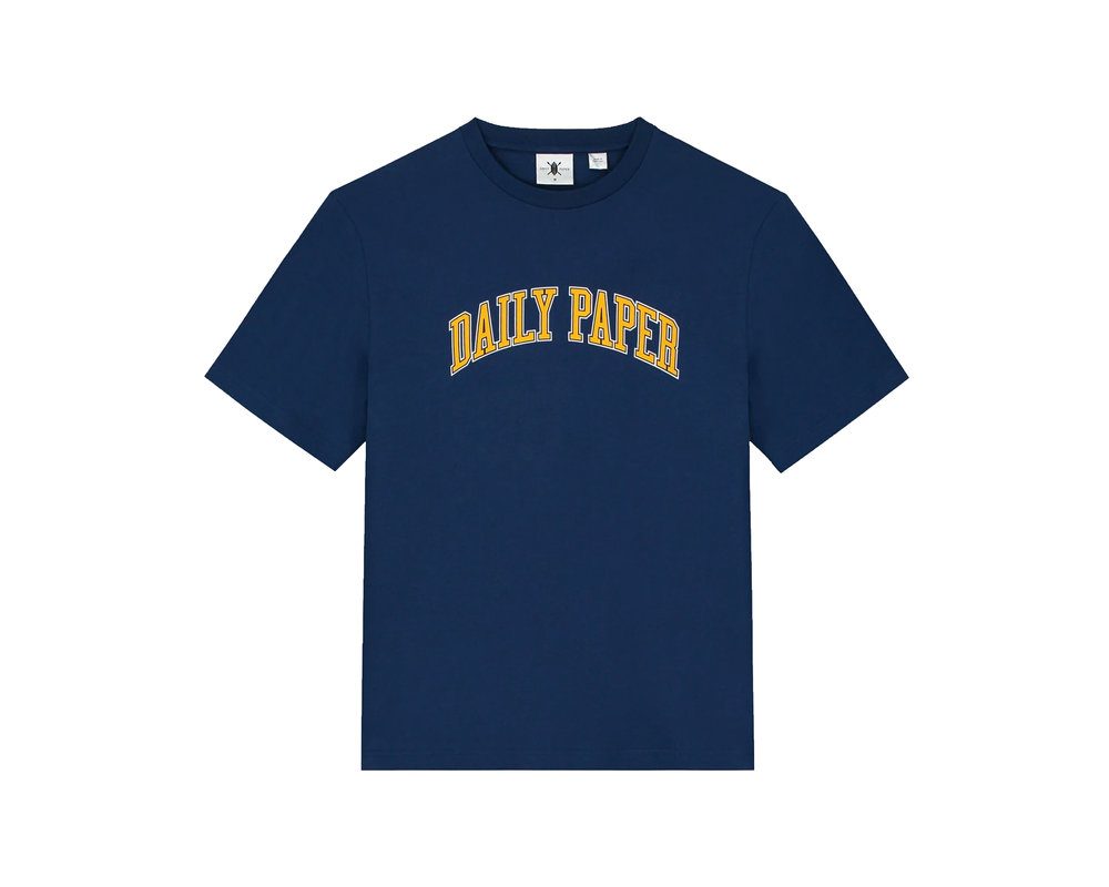 Daily Paper College Tee Navy Yellow 19418235 20