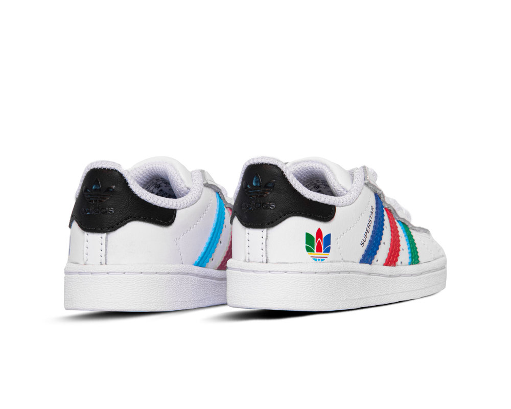 Adidas Superstar El I Cloud White Green Core Black FW5240