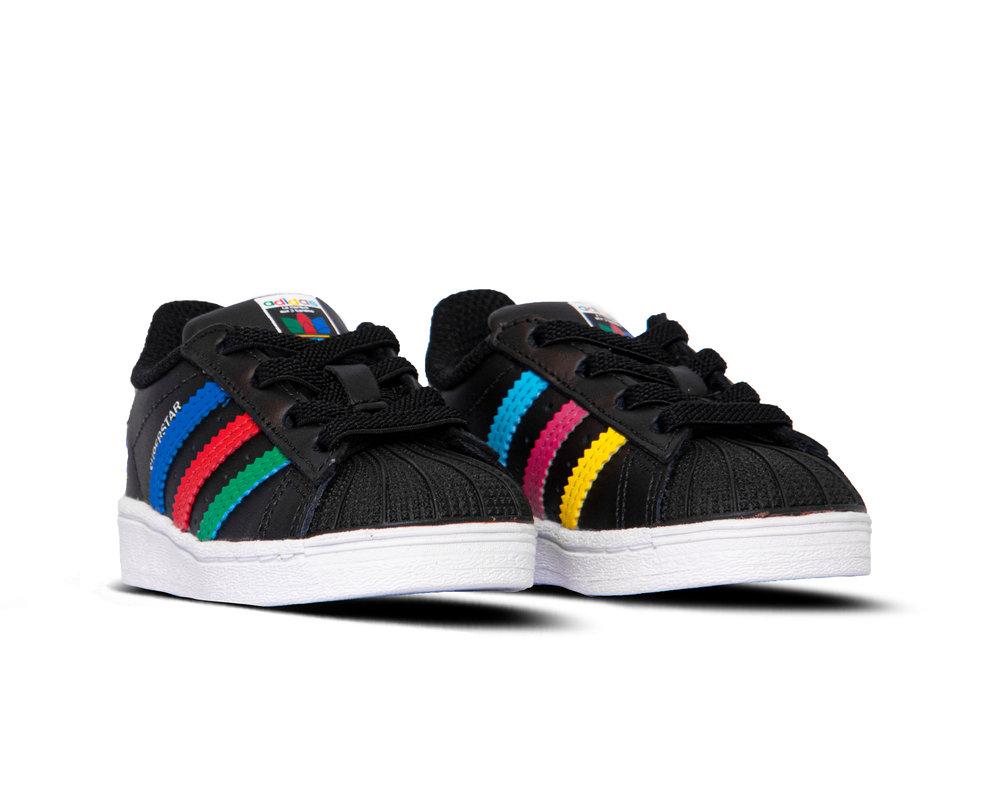 Adidas Superstar El I Core Black Green Cloud White FW5239
