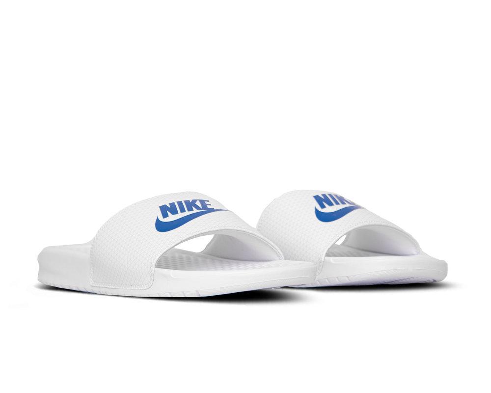 Nike Benassi JDI White Varsity Royal White 343880 102
