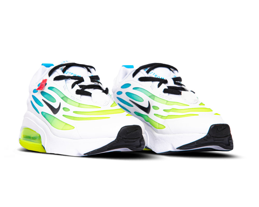 Nike Air Max Exosense SE GS White Blue Fury Volt Black CV8130 100
