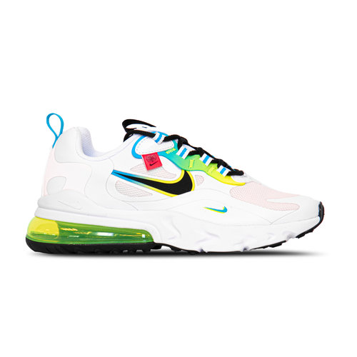 Air Max 270 React GS White Black Blue Fury Volt  DB4676 100