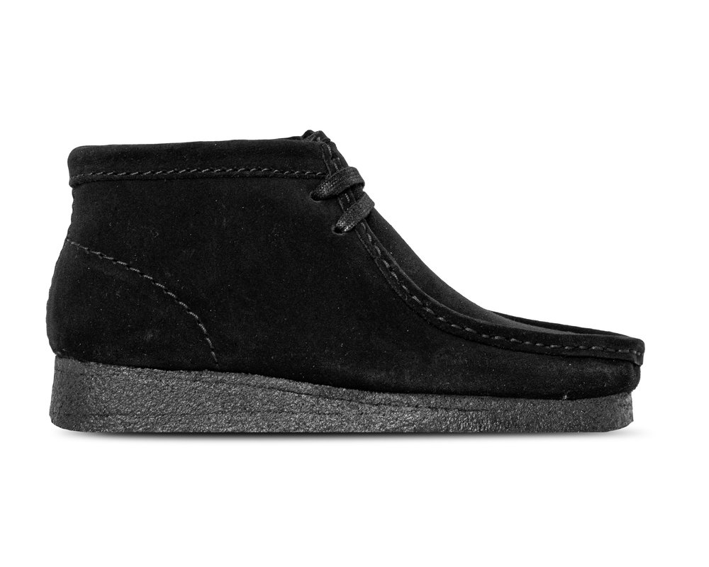Clarks Wallabee Boot Black Suede 261555214