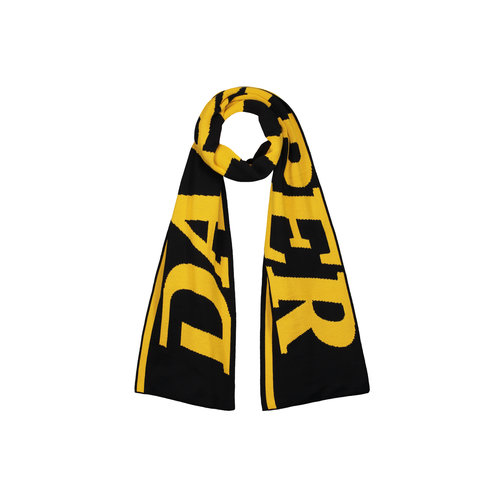 Merino Wool Scarf Yellow Black 18F1AC21 03