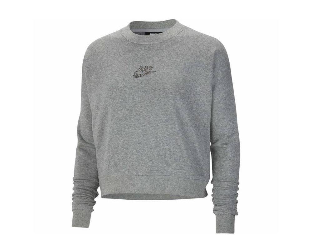Nike NSW WMNS Crewneck Dark Grey Heather Multi Color CU6403 063