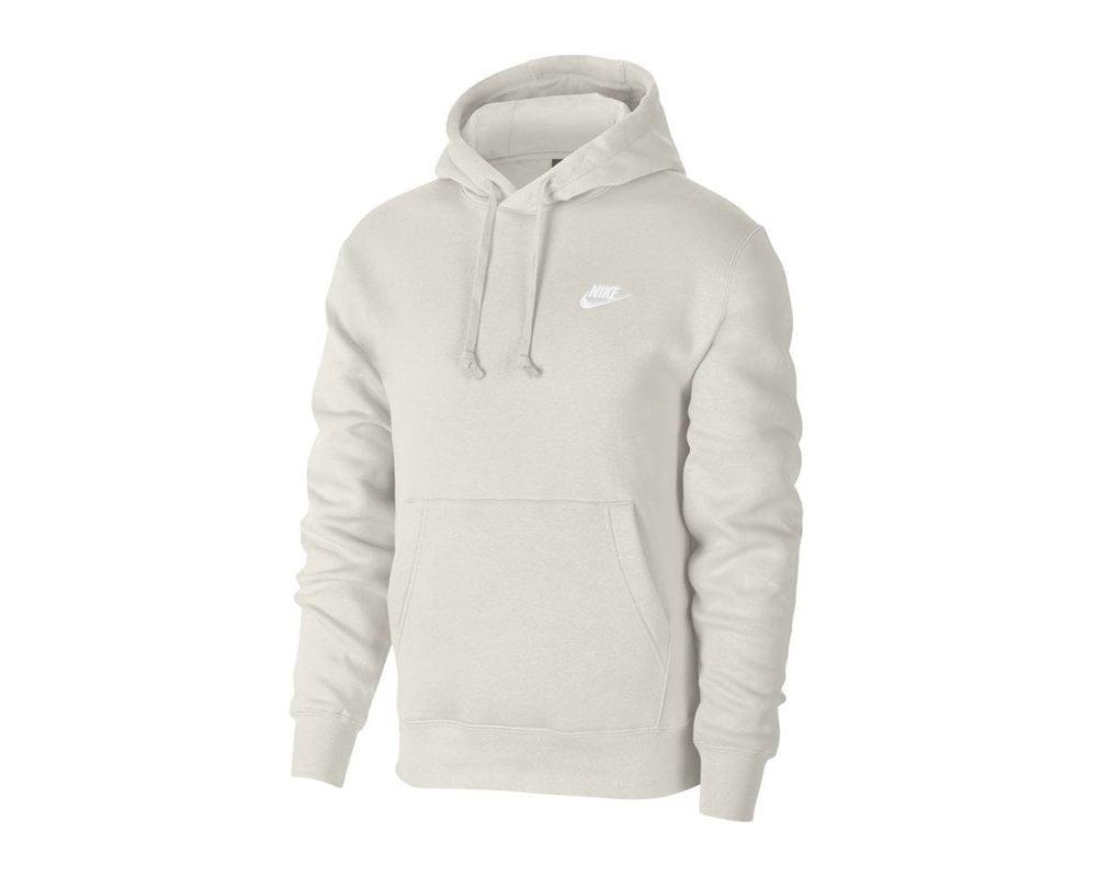 Nike NSW Club Fleece Hoodie Light Bone White BV2654 072
