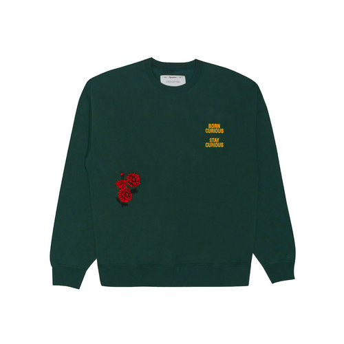 Club Sweat Curious Hunter Green F0031