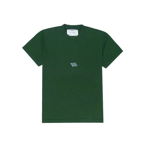 SS Tee Triple Logo Hunter Green F0047
