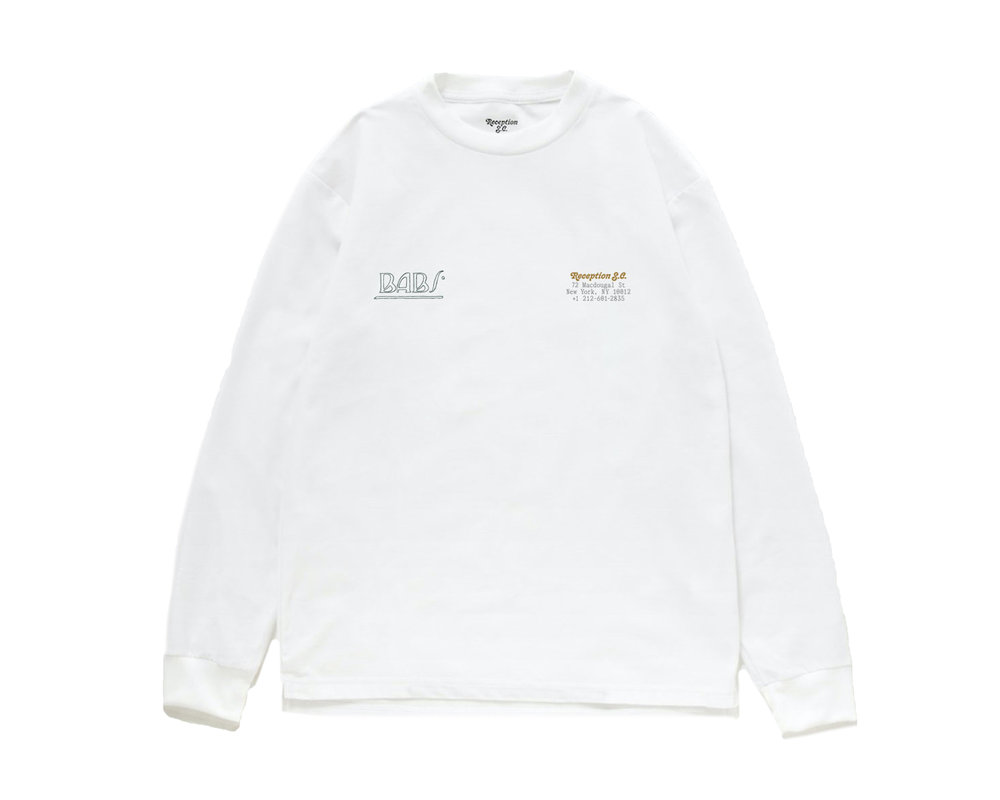 Reception Baby LS Tee White RSC0021