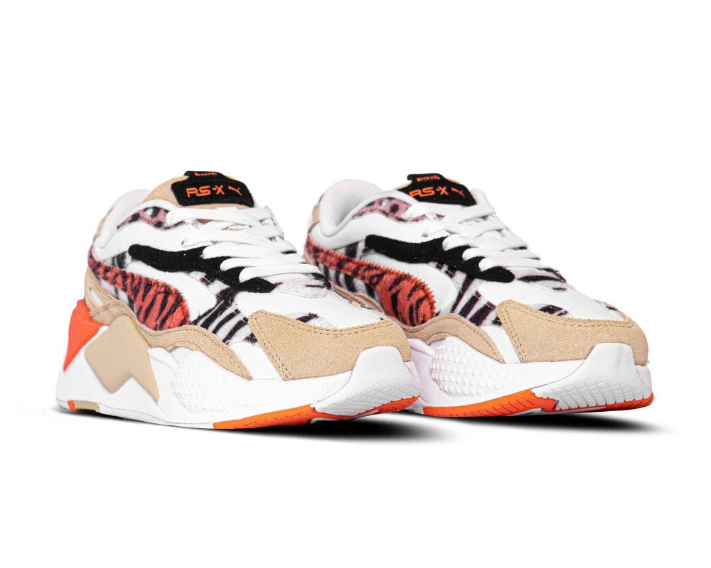 Puma W RS X³ Wild Cats Pale Khaki Puma White 373953 01