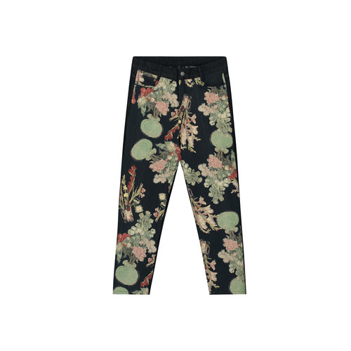 Van Josha Pants Washed Black Denim Floral 2041011 4
