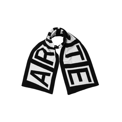 Aron Double Logo Scarf Black White AW20 058SC