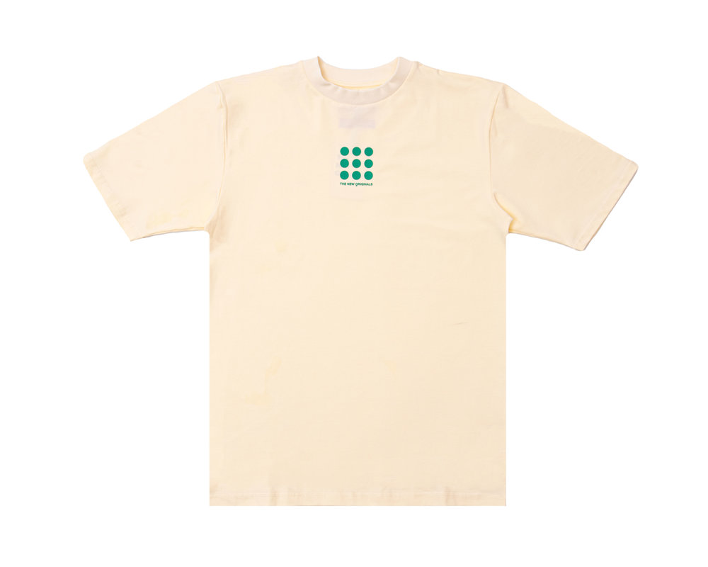 The New Originals Nine Dots Tee Creme Green TNO58