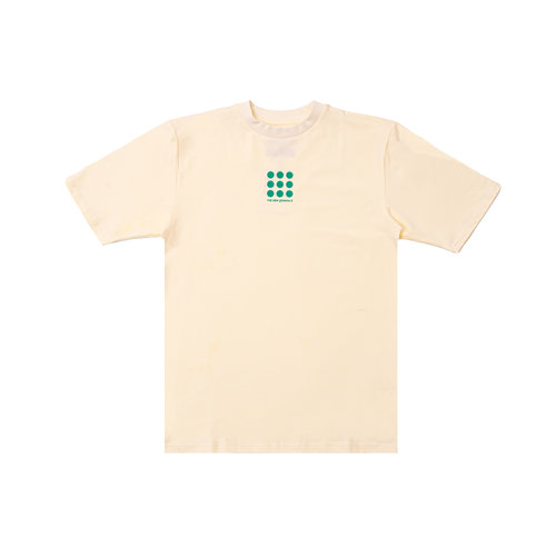 Nine Dots Tee Creme Green TNO58