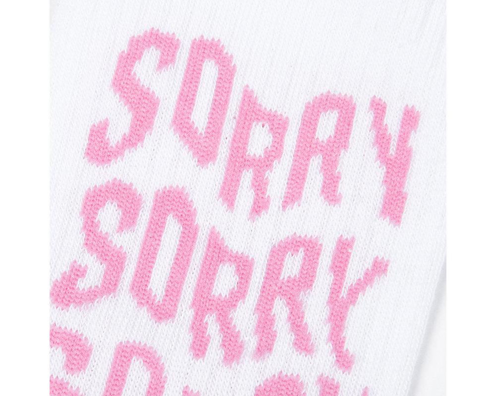 Bruut Sorry Sock white BT011