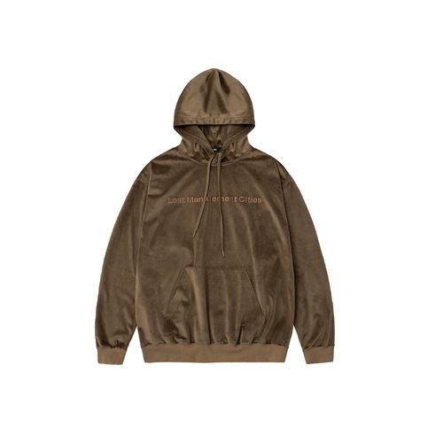 Velour FN Oversized Hoodie Dark Brown LMC2010