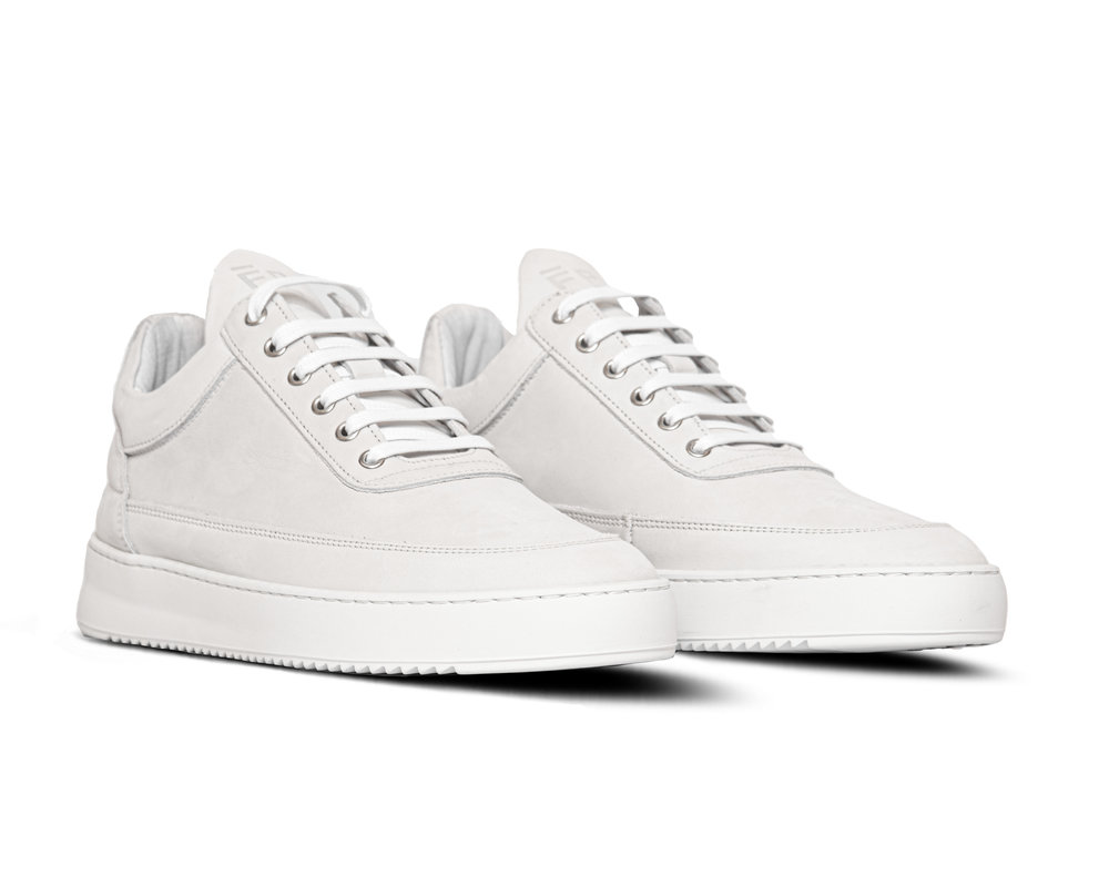 Filling Pieces Low Top Ripple Basic All White 3042172 1855