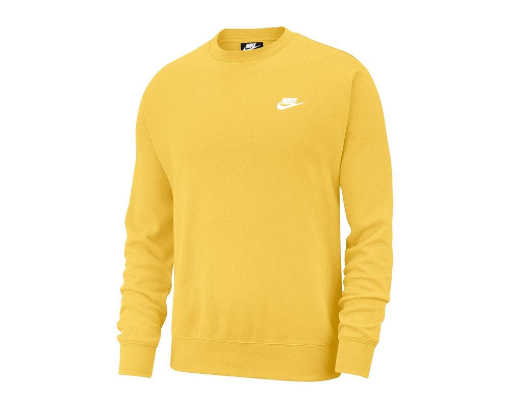 Nike NSW Club Fleece Crewneck Solar Flare White BV2662 761