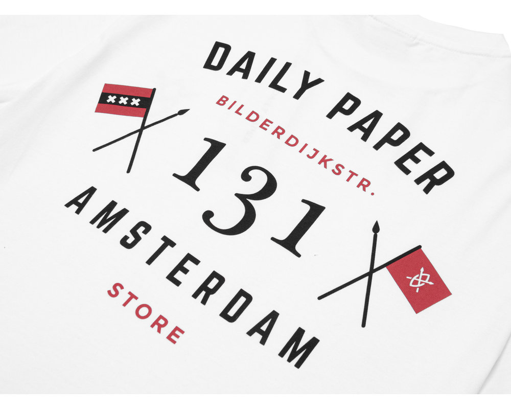 Daily Paper Amsterdam Store Tee White 2021347 01