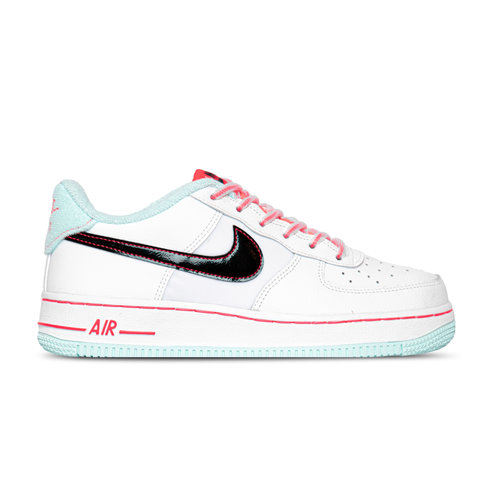 Air Force 1 '07 LV8 GS White Black Flash Crimson Atomic Pink DD7709 100