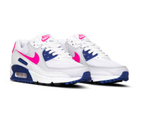 Nike Air Max 90 White Hyper Pink Concord Pure Platinum DC9209 100