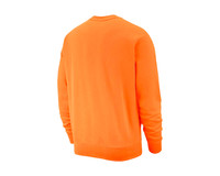 Nike NSW Club Fleece Crewneck Electro Orange White BV2662 837