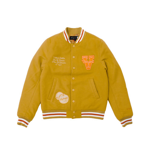 x Van Gogh Wool Varsity Jacket Yellow VG001