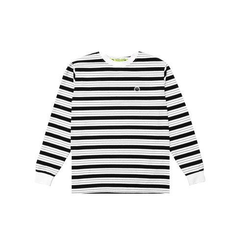 Breton Longsleeve White Black Stripes 2021013