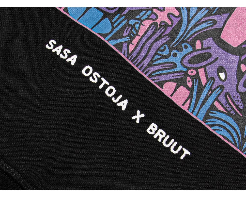 Bruut x Saša Ostoja Tee Black BT1010 001