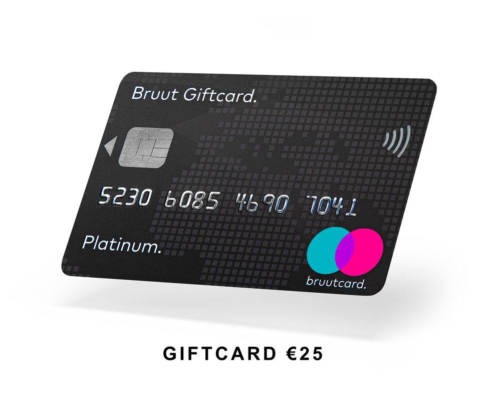 Bruut Cadeaukaart €25.-