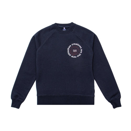 Catna New Graphic Sweater Navy TNO83