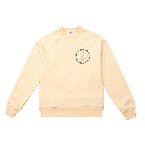 Catna New Graphic Sweater Creme TNO84