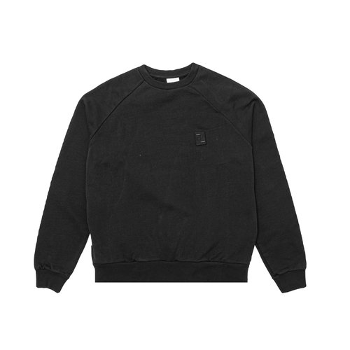 Essential Two Stripe Crewneck Black 80598781861
