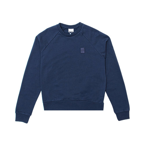 Essential Two Stripe Crewneck Navy