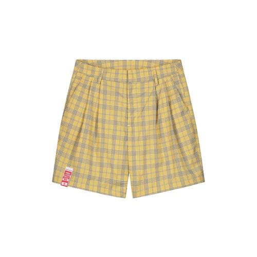 Klevon Short Yellow Check 2111124