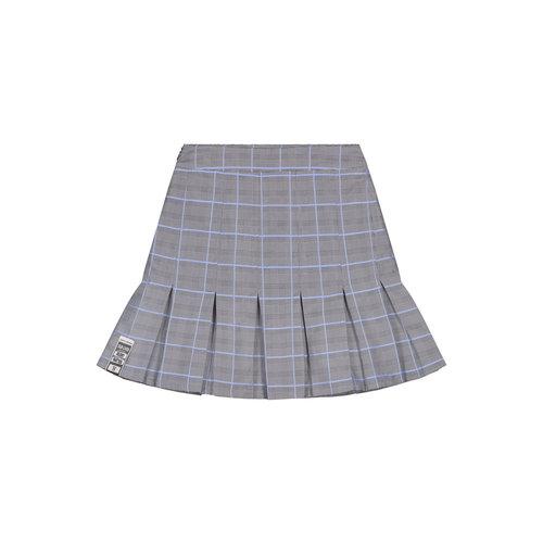 Kenee Skirt Light Blue Check 2112131