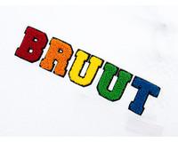 Bruut Varsity Teddy Logo Tee White BT1030 009