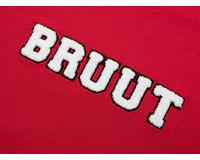 Bruut Varsity Teddy Logo Tee True Red BT1030 010