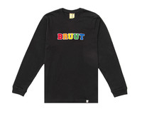 Bruut Varsity Teddy Logo Longsleeve Black BT1030 012