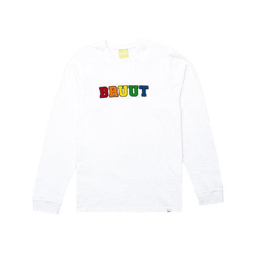 Varsity Teddy Logo Longsleeve White BT1030 013