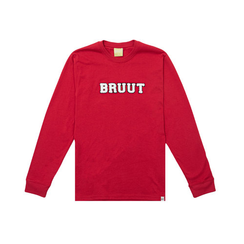 Varsity Teddy Logo Longsleeve True Red BT1030 014