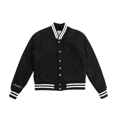 Essential Varsity Jacket Black White 81422201861