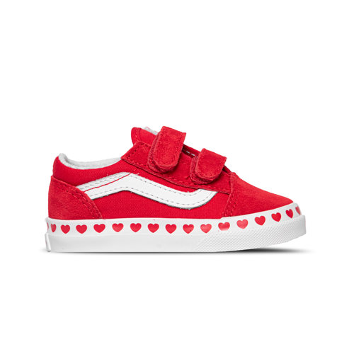 Old Skool Heart TD Red True White VN0A38JN30V1
