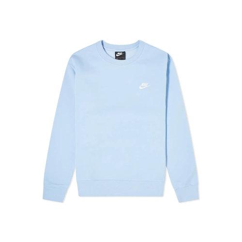 NSW Club Fleece Crewneck Psychic Blue White BV2662 436