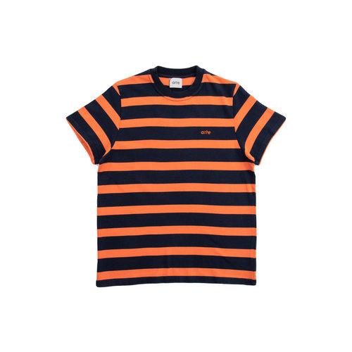 Tomi Stripes Tee Navy Orange SS21 006TNO