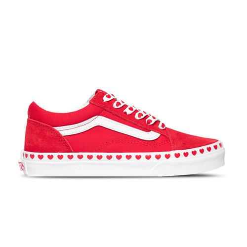 Old Skool Heart YK Red True White VN0A4BUU30V1